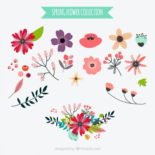 Spring flowers graphic clipground spring flower vectors photos and psd files mightylinksfo