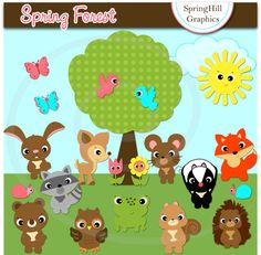 Spring Forest Clipart.
