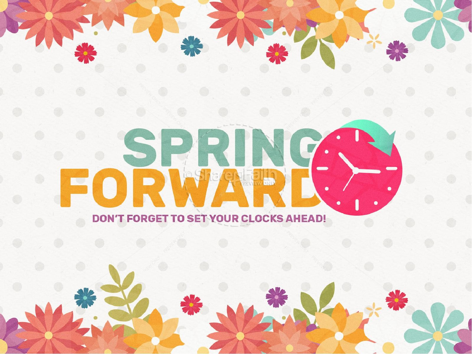 Daylight Saving Time Spring Forward PowerPoint.