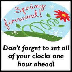 spring forward time change clipart #7