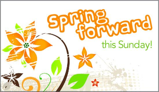 spring forward time change clipart #18