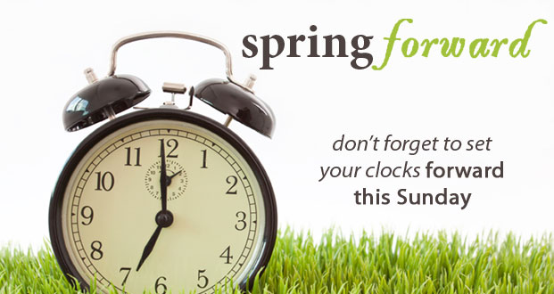 spring forward time change clipart #17