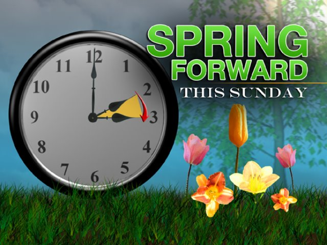 spring forward time change clipart #8