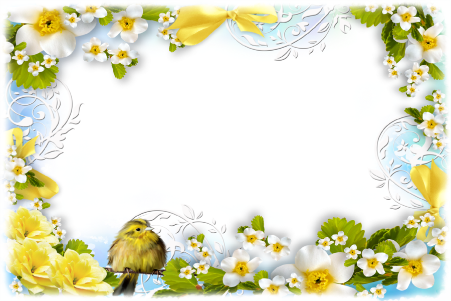 Spring Background Frame clipart.