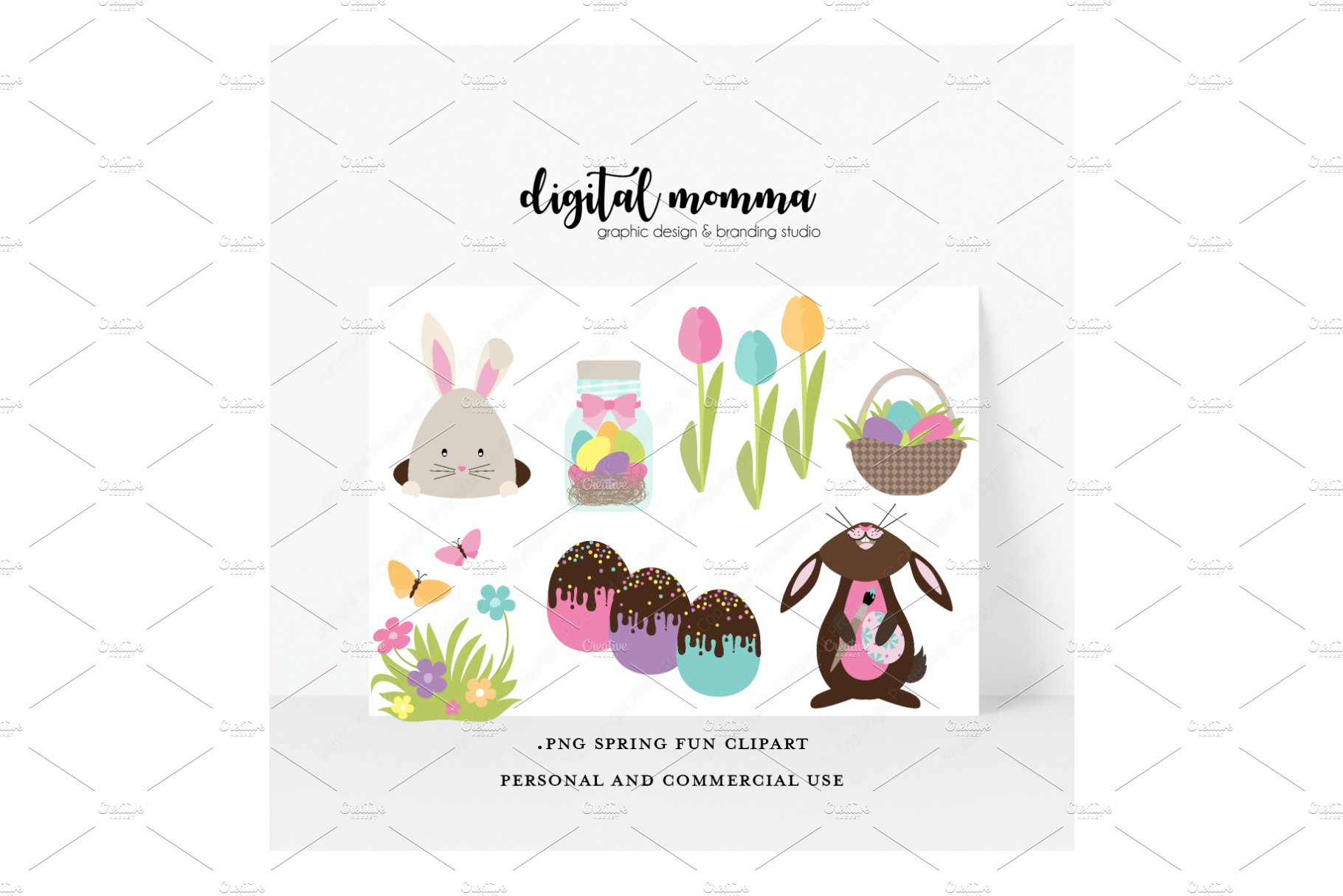 Spring Fun, Easter PNG Clipart.
