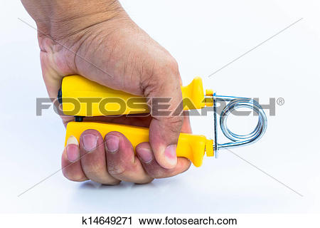 Stock Photography of spring hand grip for exercise k14649271.