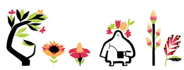 Flowery Google Doodle heralds first day of spring.
