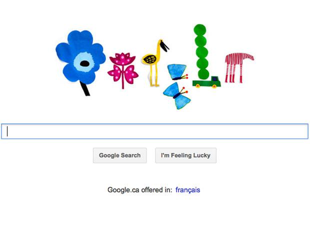 Spring equinox 2012: Google doodle heralds official end of winter.