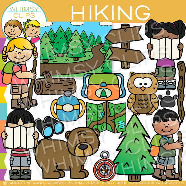 Kids Hiking Clip Art , Images & Illustrations.