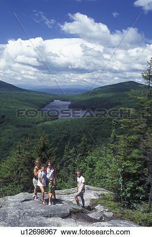 Picture of hiking, spring, Groton State Forest, VT, Vermont.