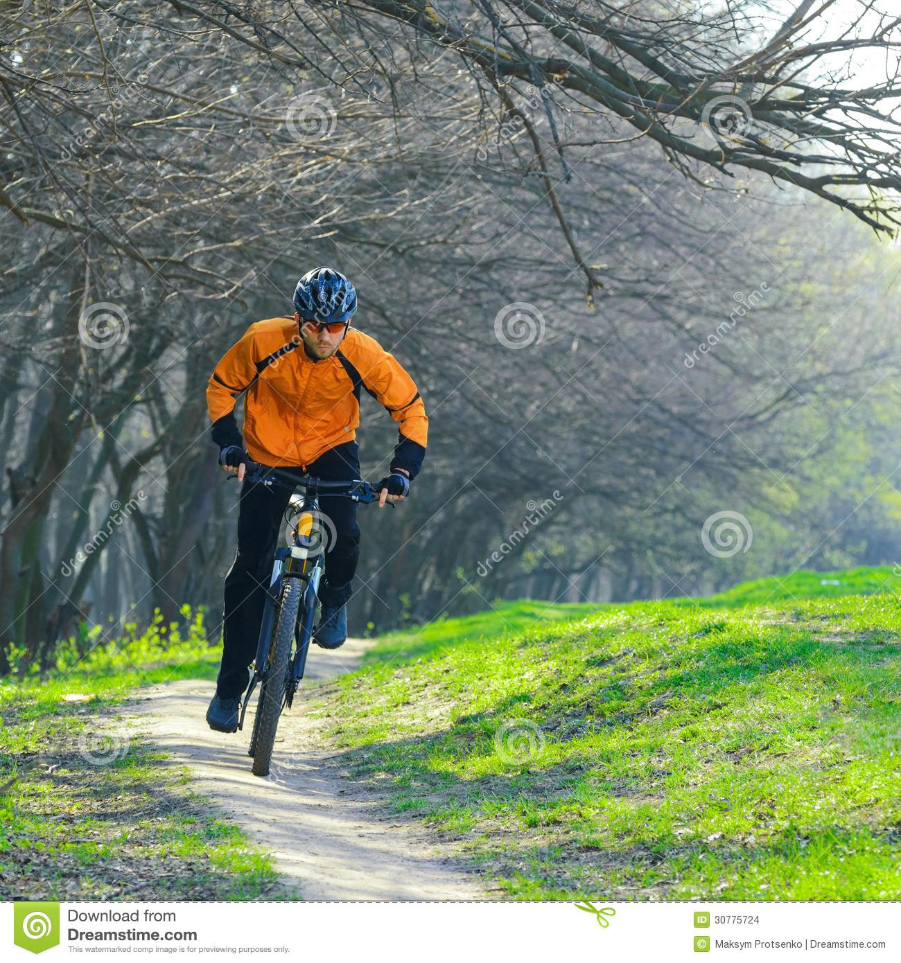 Trail Riding Bike Clipart.