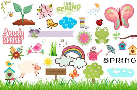 Spring Clipart (100+ pieces).