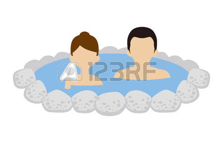 287 Hot Spring Japan Stock Vector Illustration And Royalty Free.