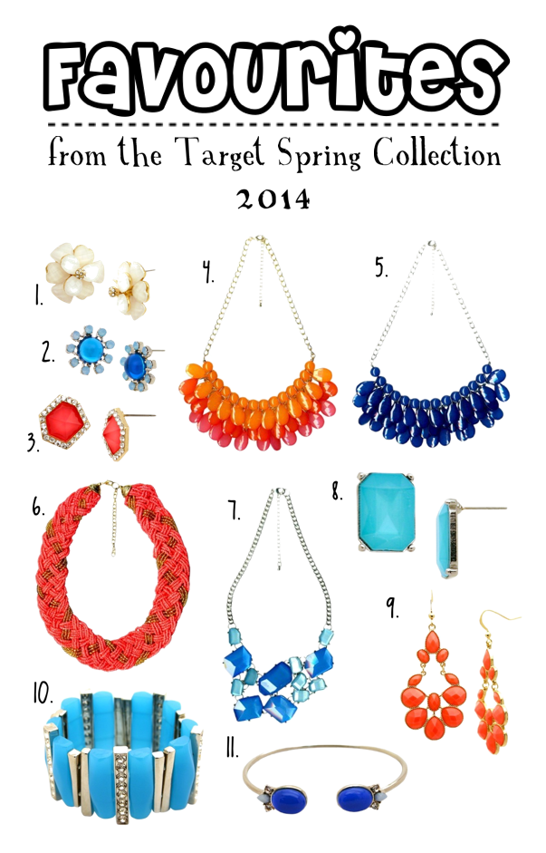 Favourites from the Target Spring Jewelry Collection 2014 (USA.