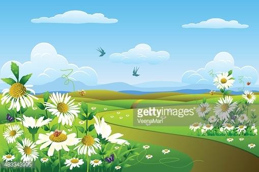Spring Landscape Clipart.