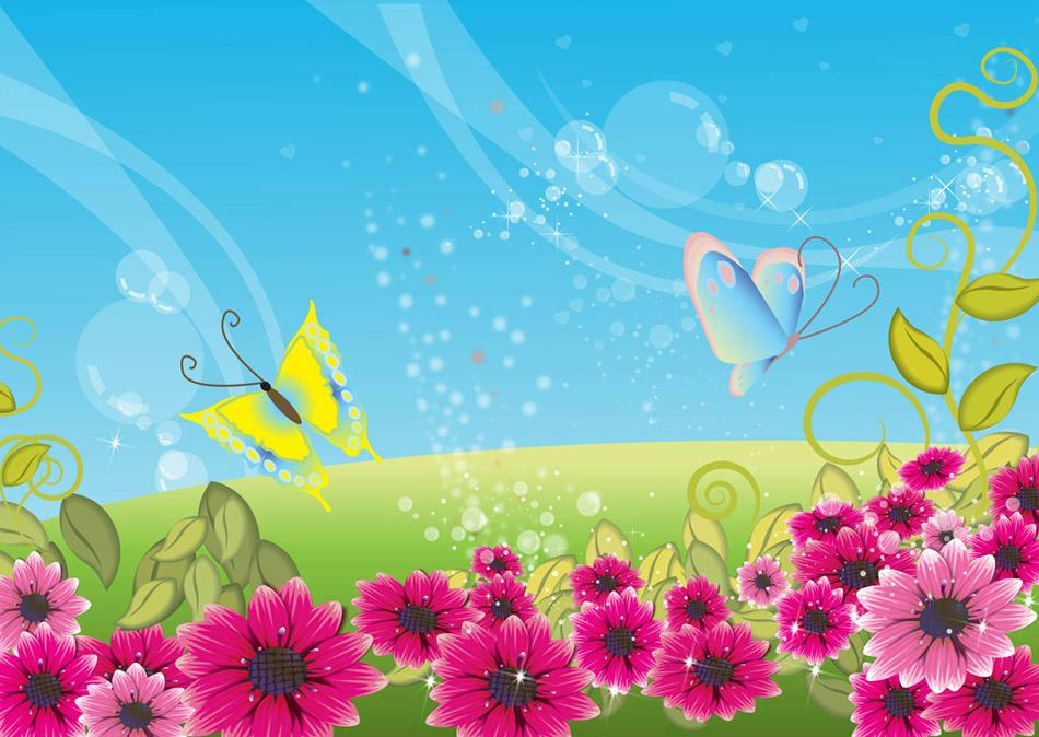 Spring Scene Clipart.