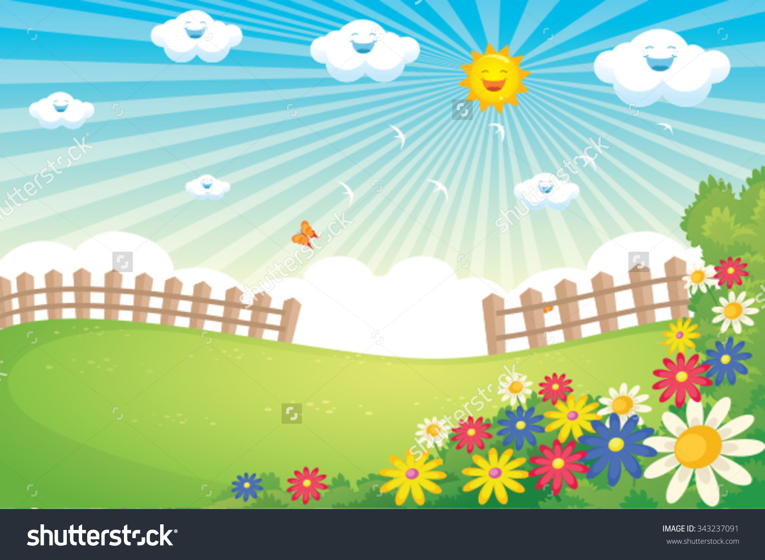 Landscape Spring Clipart Clipground