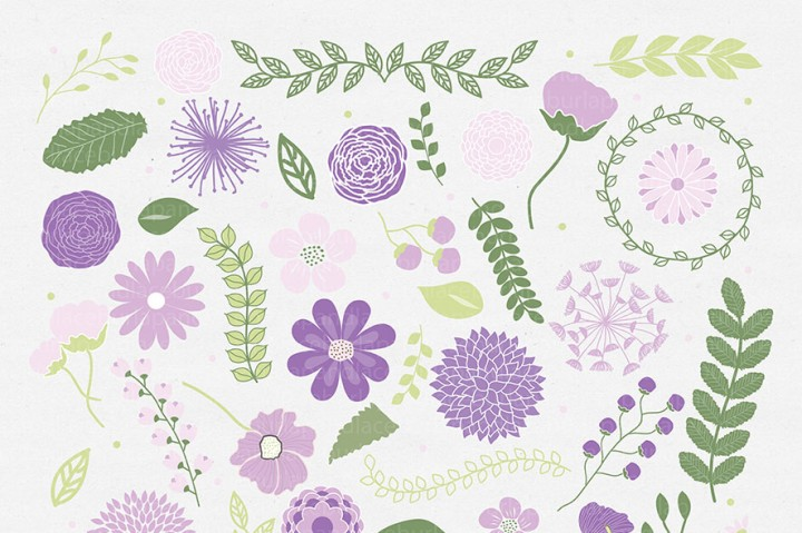 Spring flowers clipart, Mother's Day Clipart, mum flowers, wraeth.