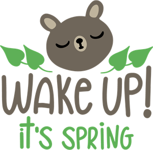 WAKE UP! IT\'S SPRING Logo Vector (.EPS) Free Download.