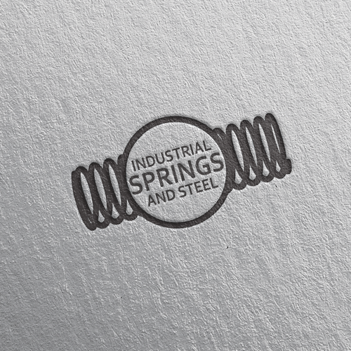 Design a modern industrial logo for a spring manufacturing.