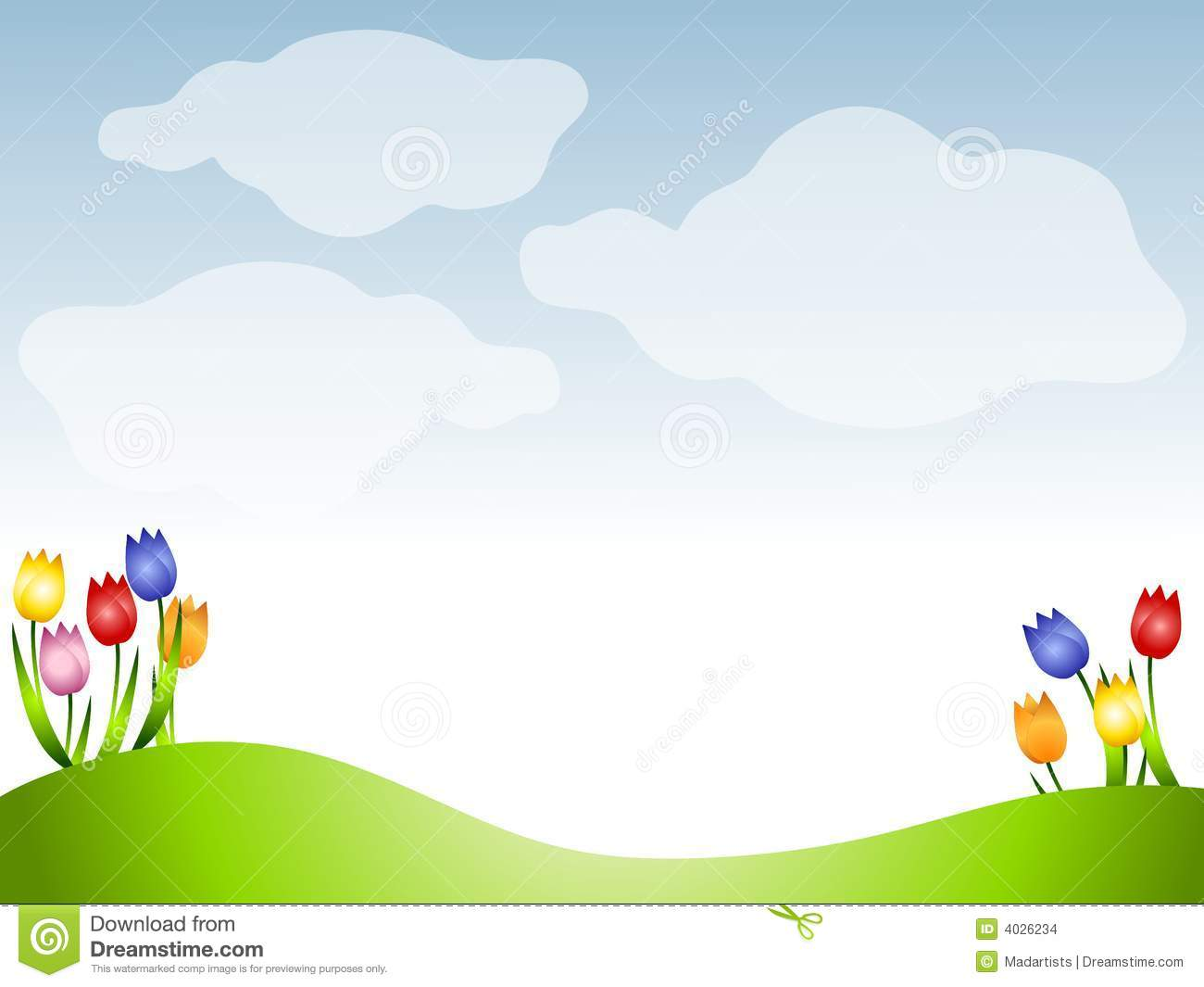 Clipart meadow background.