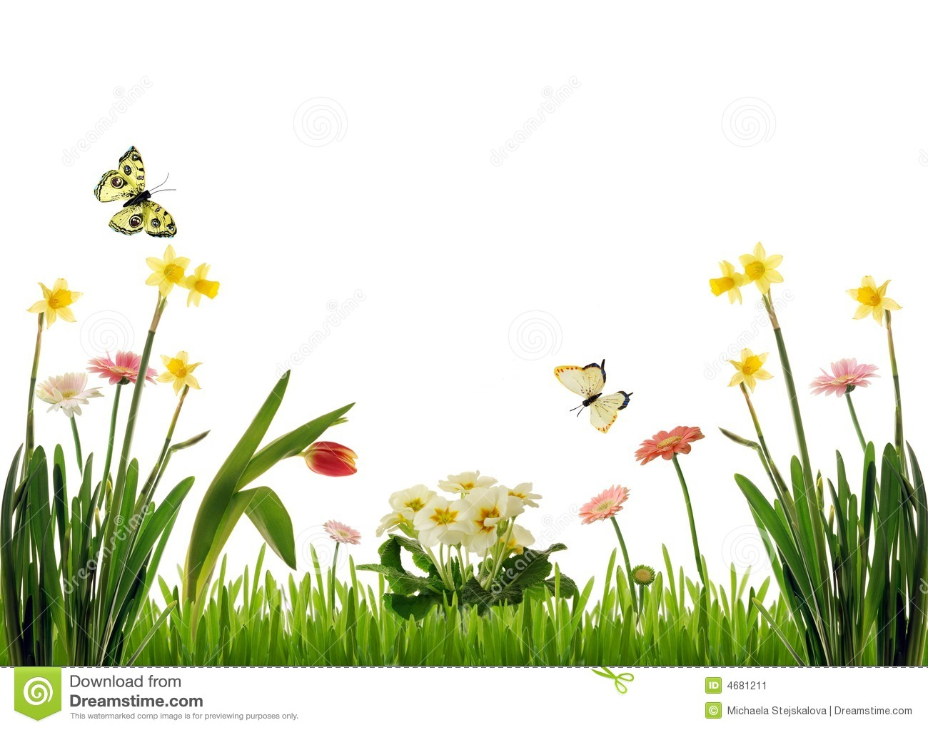 Spring Meadow Clip Art.