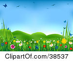 Spring Meadow Clipart.