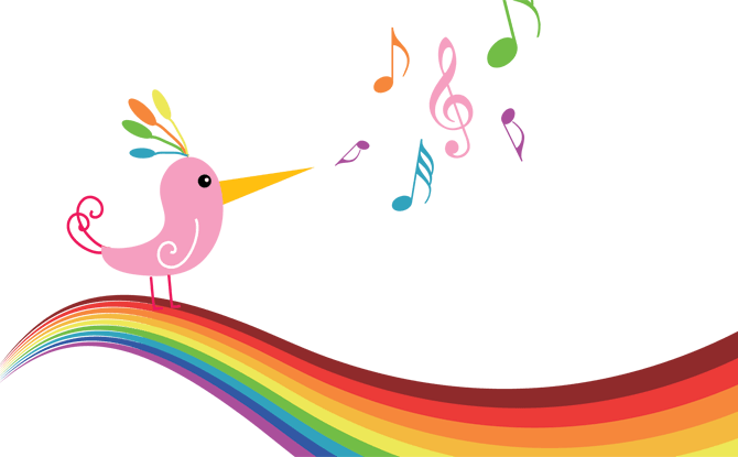 Download HD Rainbow Butterfly Clipart Spring Music Concert.