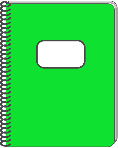 Spiral notebook clipart.