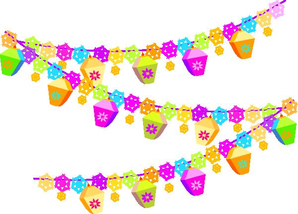Spring Party Garland Clip Art at Clker.com.