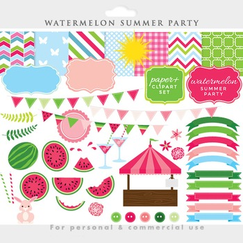 Watermelon clipart.