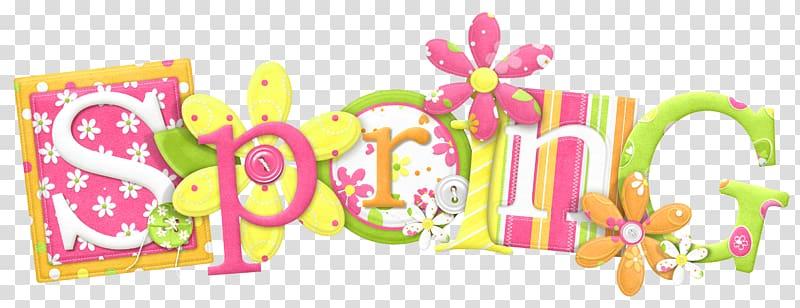 Spring text , Spring , Spring transparent background PNG.