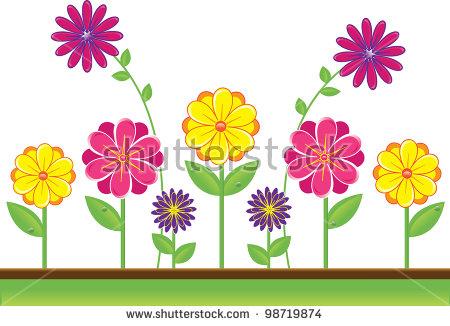 Clip Art Illustration Cute Yellow Pink Stock Illustration 98719874.