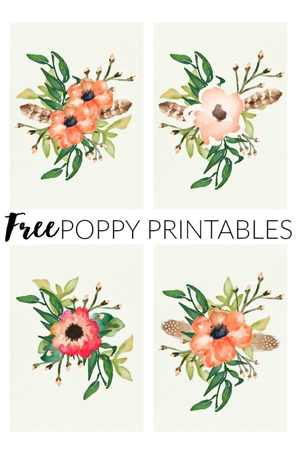 Free Spring Poppy Printables.
