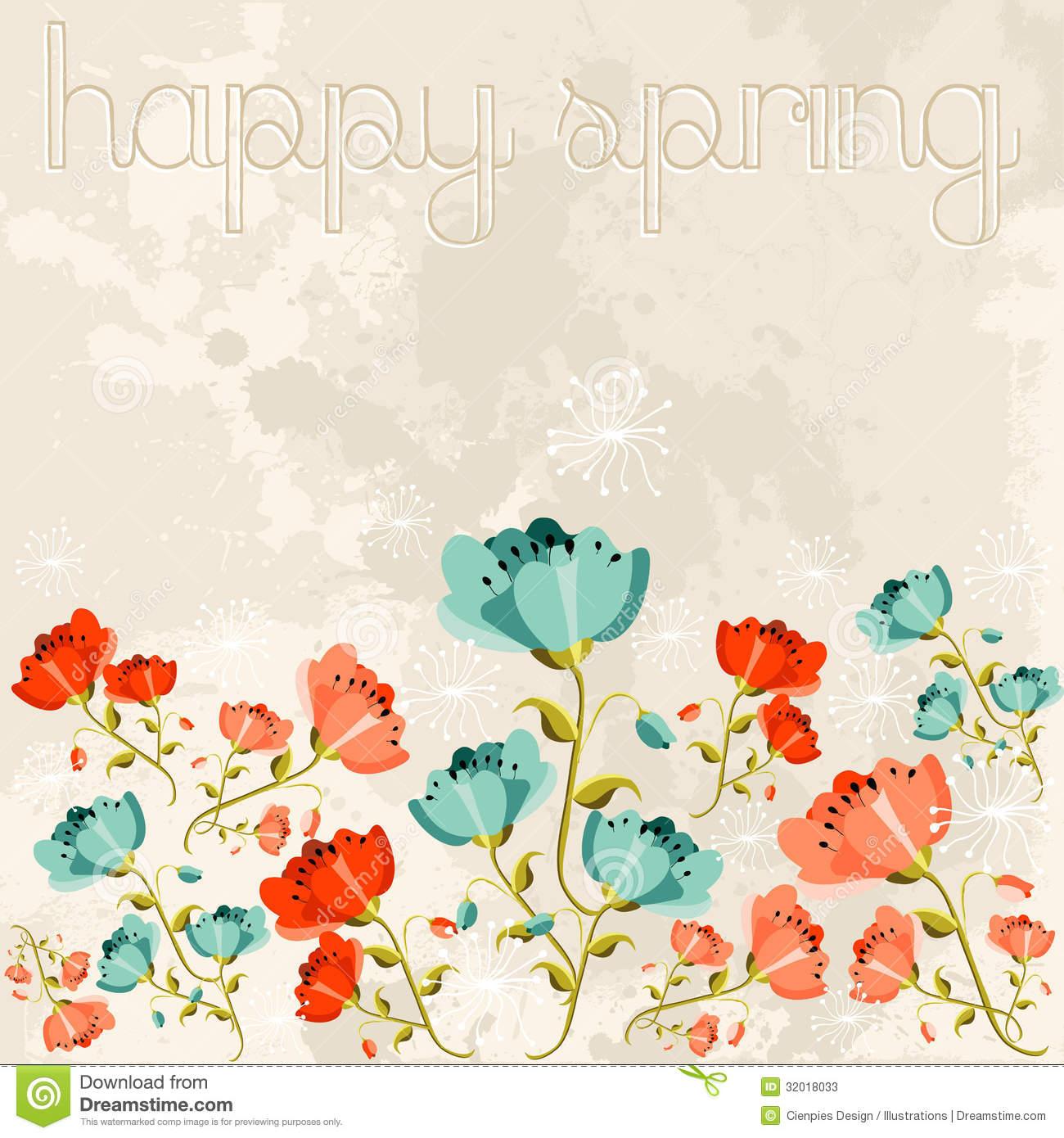 Happy Spring Poppy Flower Stock Photos.