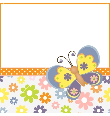 Template for spring easter postcard vector by Embosser.