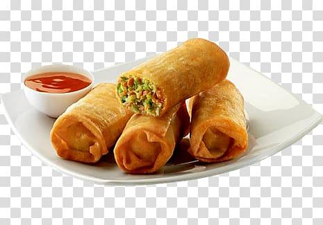 Plate of spring rolls, Spring roll Indian cuisine Vegetarian.