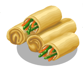 Spring Roll Clipart.
