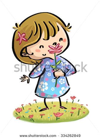 Smell Spring Stock Photos, Royalty.