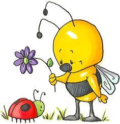 Summer bugs clipart.