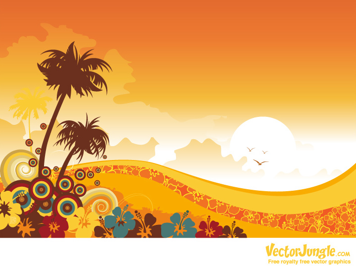 Spring Sunset Clipart