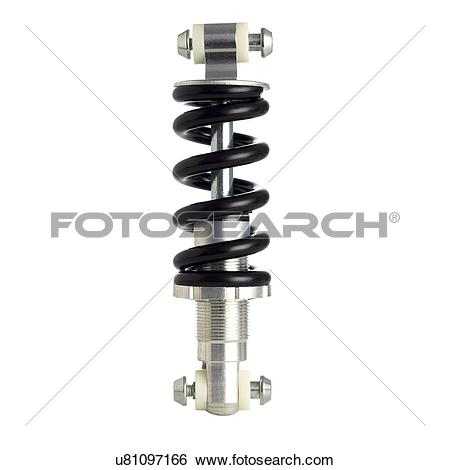 Stock Illustration of Bicycle spring suspension against a white.