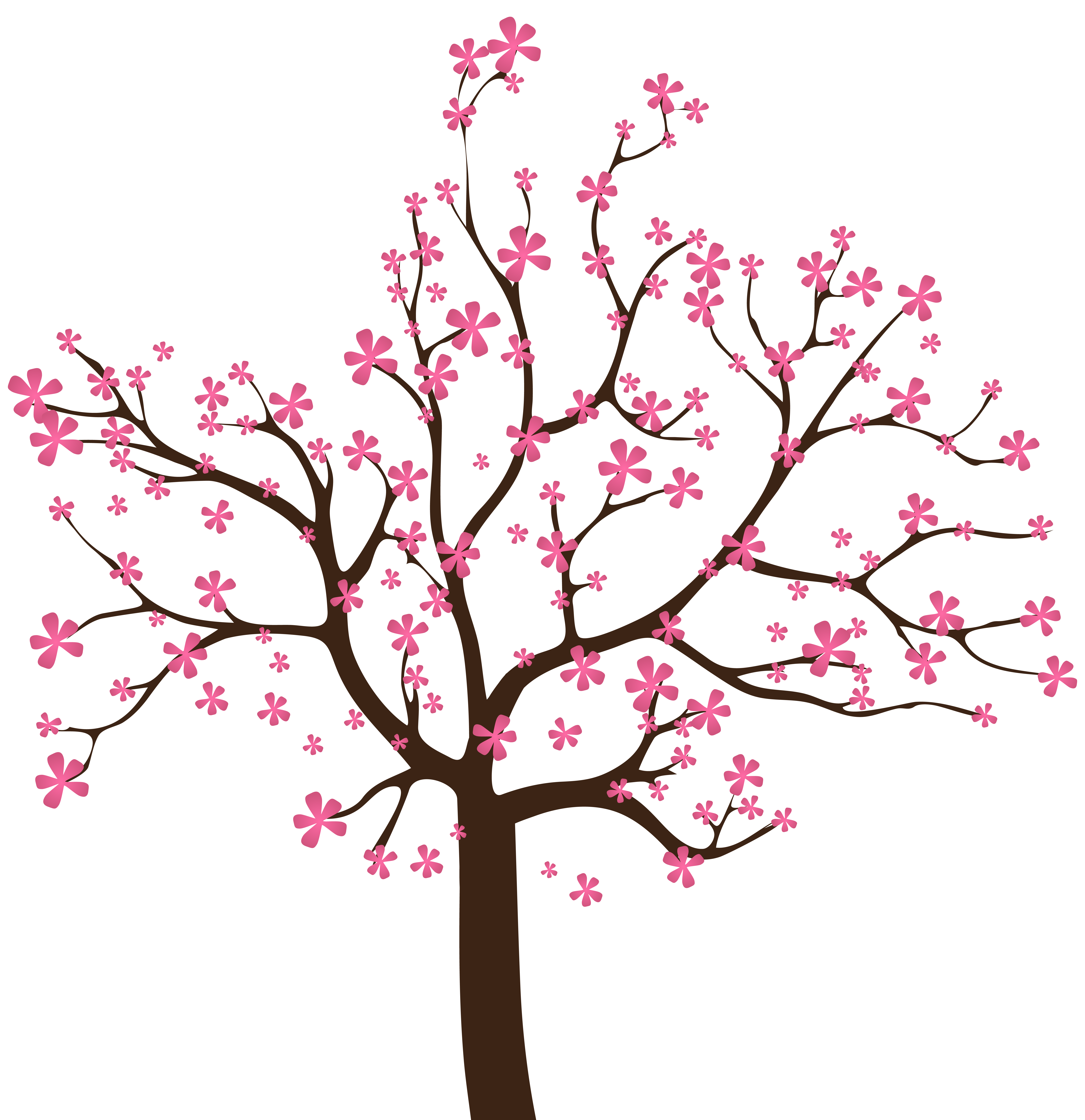 Spring Tree PNG Clip Art Image.