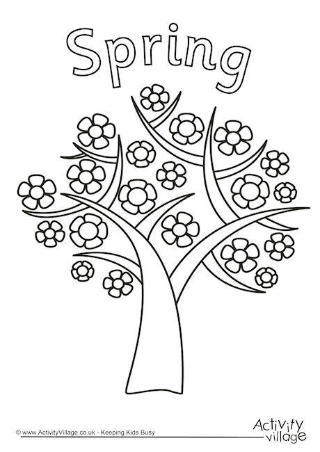 Tree Colouring Pages.
