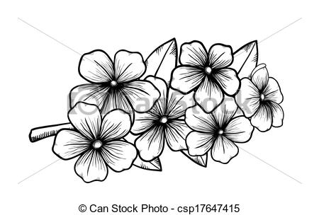 Vector Clipart of Blooming tree branch, a symbol of spring. Many.