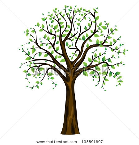Spring Tree Clipart Black And White.