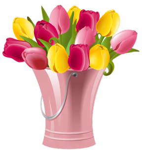 Spring Tulips Clipart.