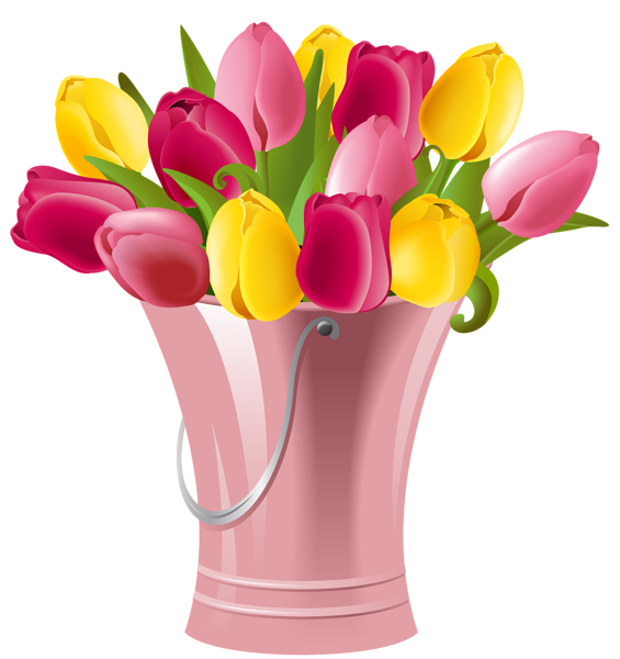 Spring Tulips Clip Art.