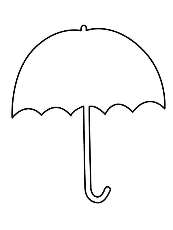 Umbrella Clipart Coloring Pages.