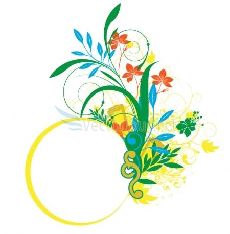 spring vector background.